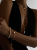 Bransoletka złota z perełkami i gwiazdką  BPE0022