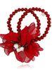 Bransoletka z kryształkami i  czerwonym kwiatem  BBL0120