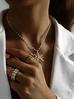 Naszyjnik z perłowym łańcuszkiem i gwiazdą z perłami NPE0034