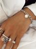 Pierścionek ze srebrną monetką i kryształkami PRG0106 rozmiar 15