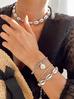 Bransoletka  srebrna z muszelkami naturalnymi Ocean Vibes BOV0068