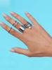 Pierścionek srebrny ze stali szlachetnej PSA0028 Rozmiar 10