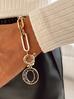 Bransoletka złoty łańcuch z okrągłą zawieszką BRG0112