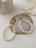 Kolczyki złote z perełkami  KPE0026