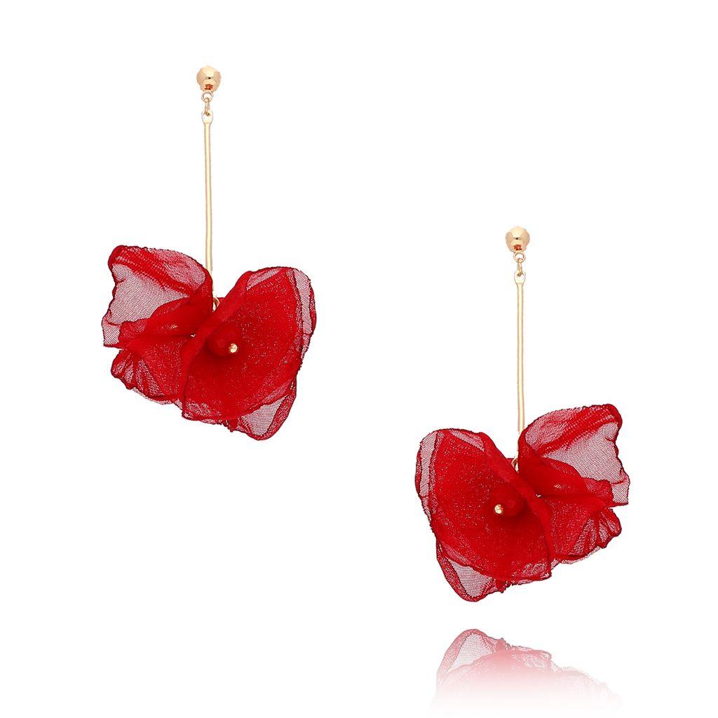 Kolczyki kwiaty Blossomn żywa czerwień  KBL0284