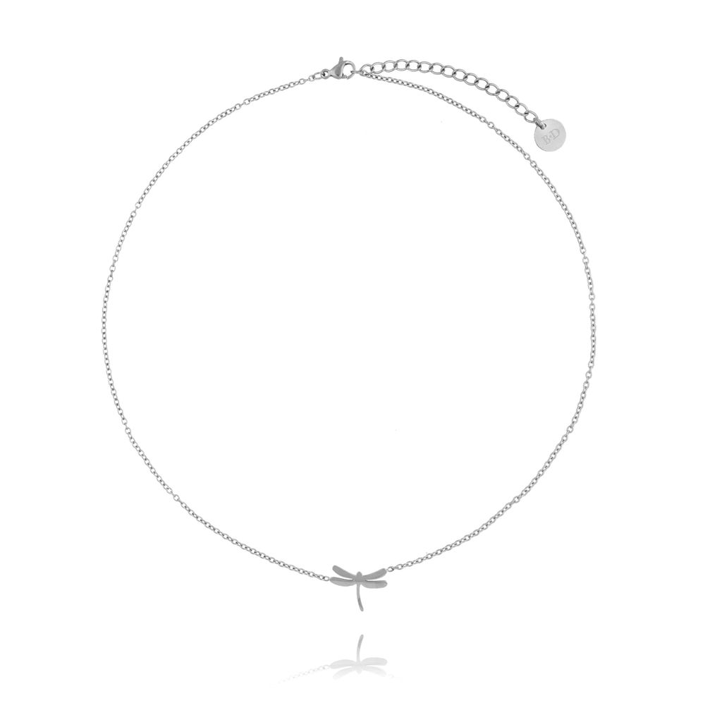Naszyjnik srebrny z ważką ze stali szlachetnej NSA0051