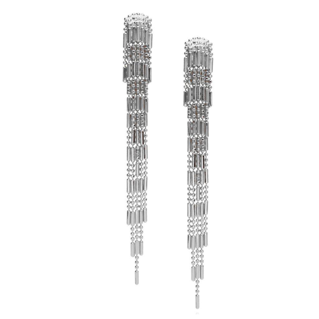 Kolczyki srebrne długie kaskadowe KRG0516