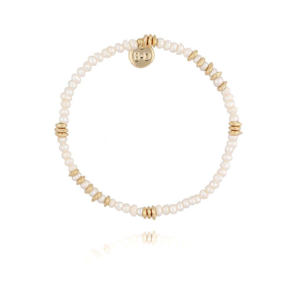 Bransoletka złota z perełkami BPE0024