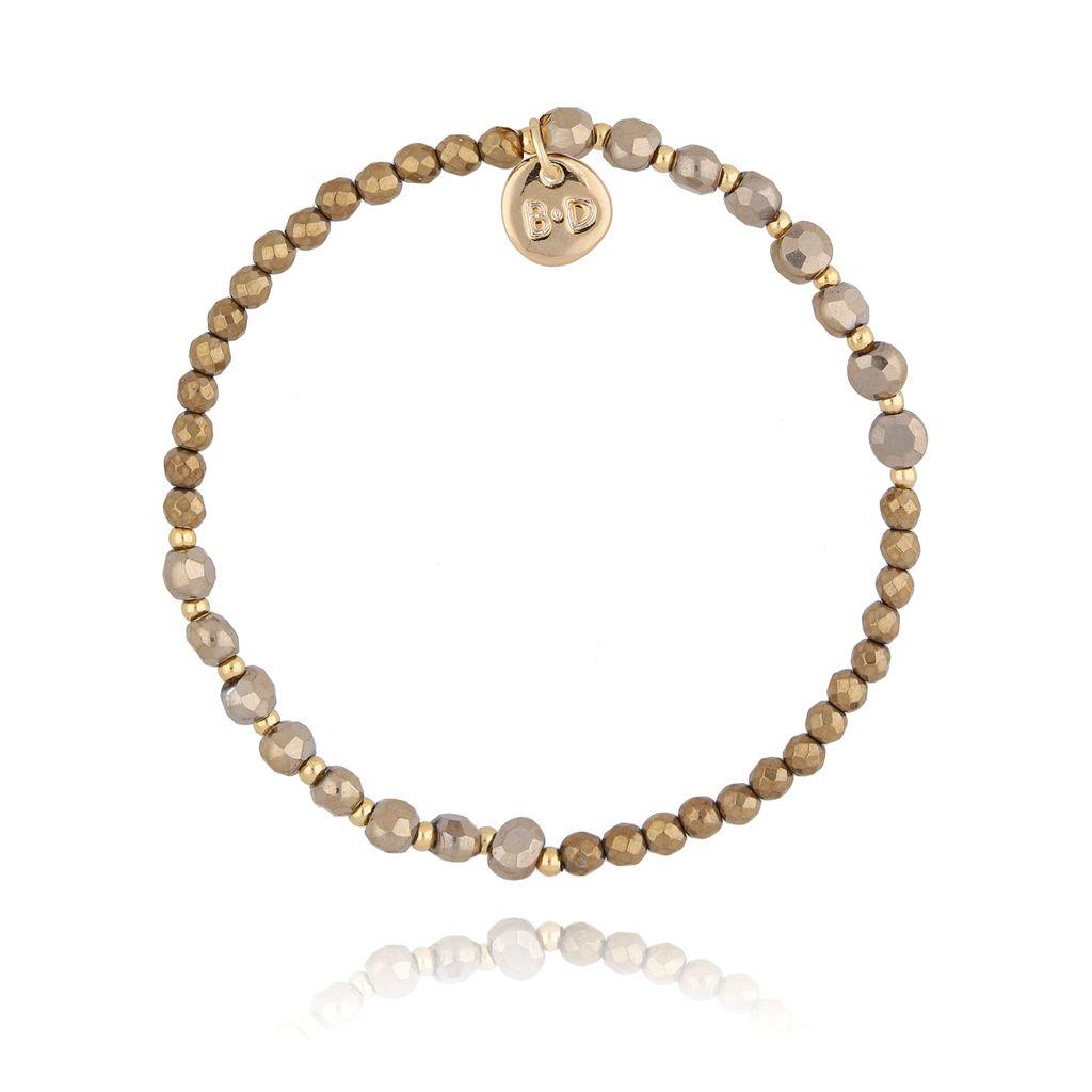Bransoletka z jasno brązowymi kryształkami BTW0278