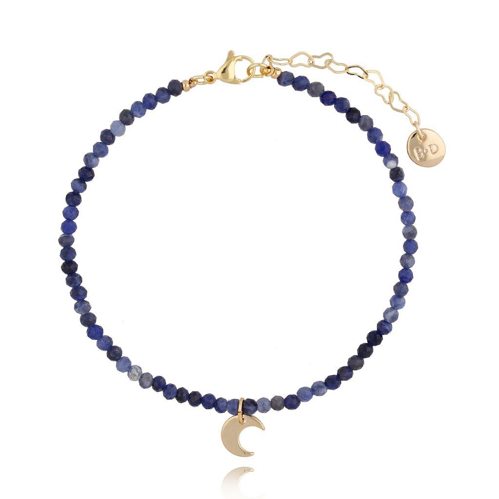 Bransoletka na kostkę lapis lazuli BNTW0014