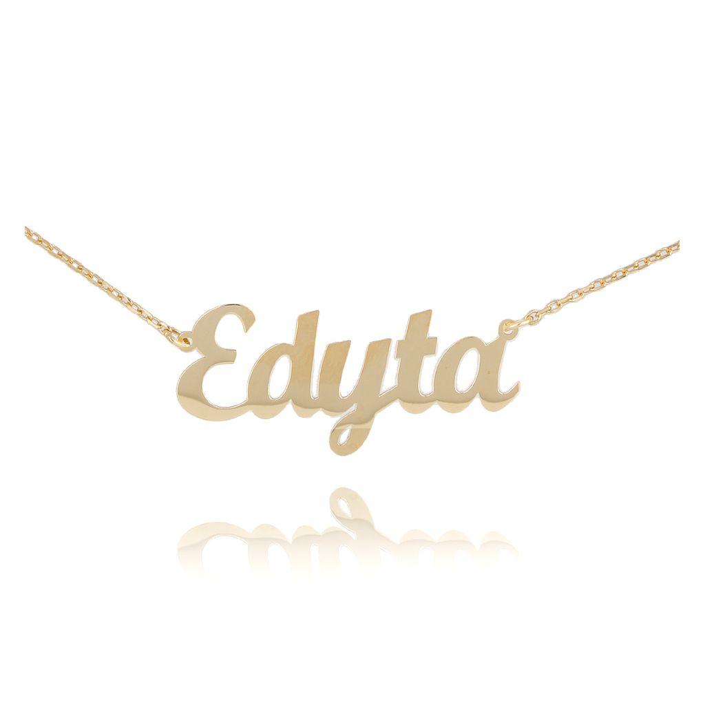 Naszyjnik srebrny pozłacany EDYTA NAT0138