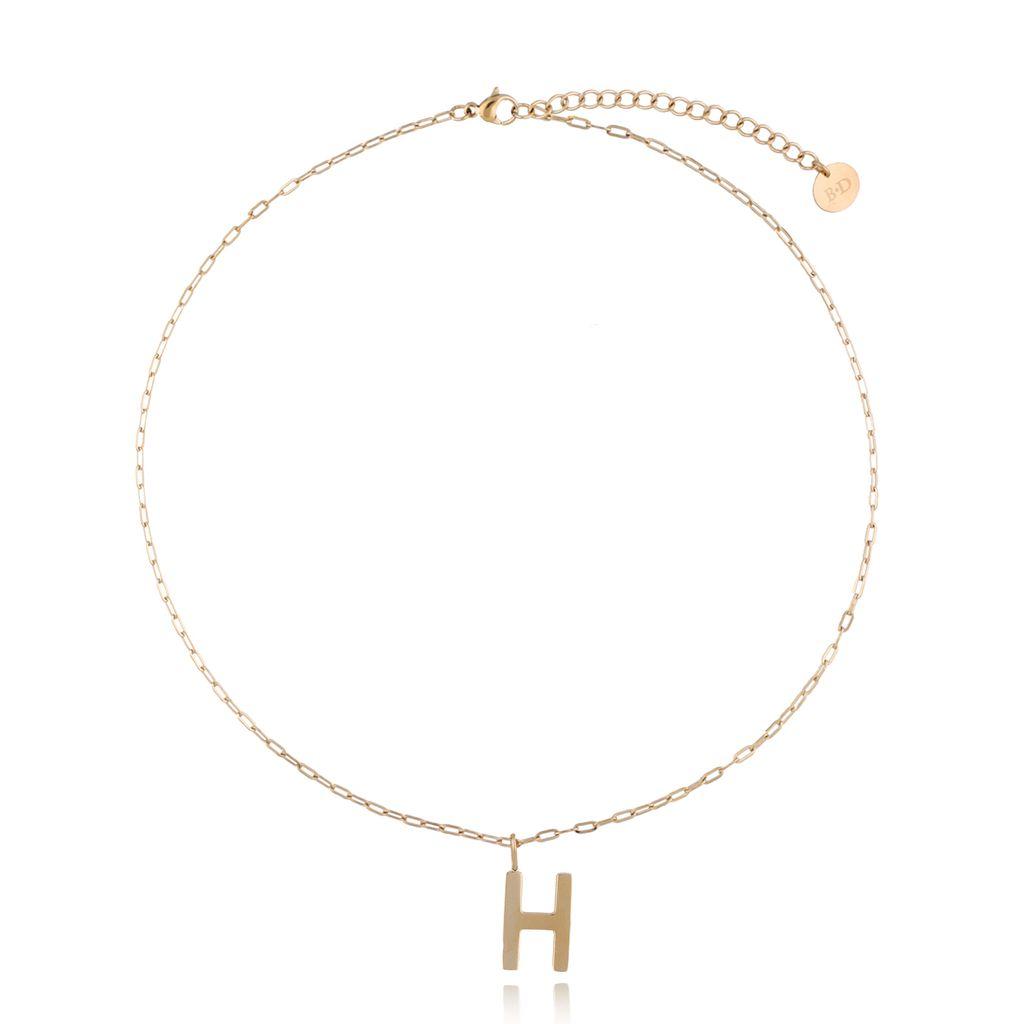 Naszyjnik złoty z literką H NAT0209