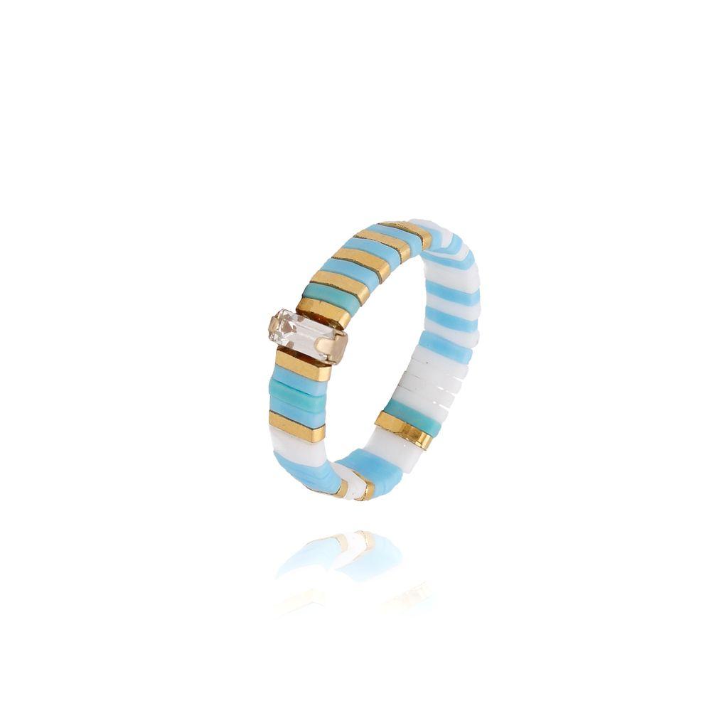 Pierścionek elastyczny niebieski  PLB0016