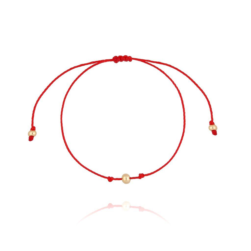 Bransoletka na szczęście czerwona BTW0275