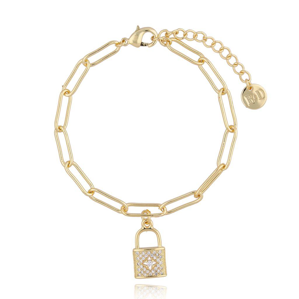 Bransoletka złota z kłódką BRG0185