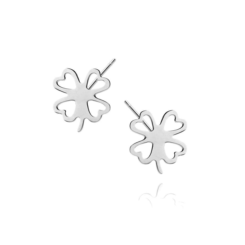 Kolczyki srebrne koniczyny KSE0008