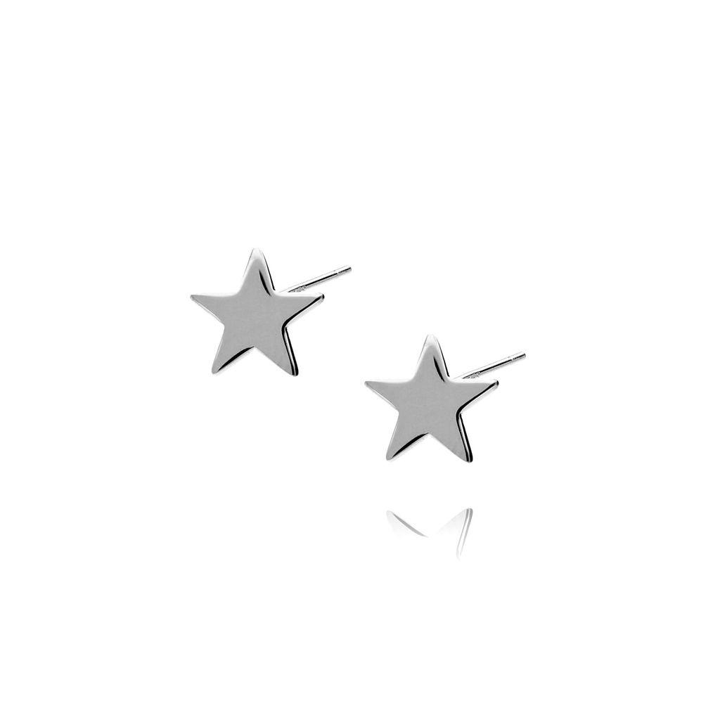 Kolczyki srebrne gwiazdki KGM0004