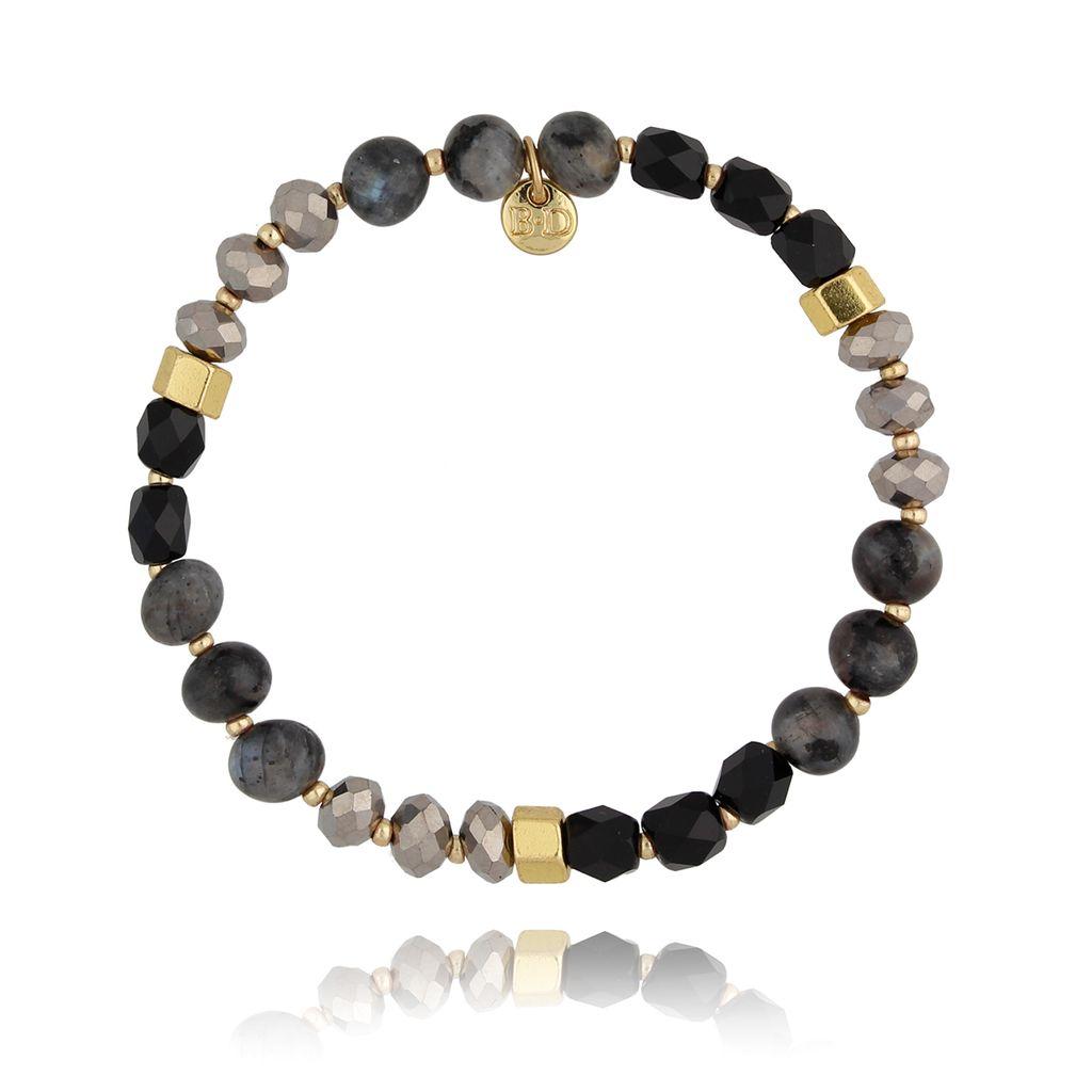 Bransoletka z kryształkami czarna BSC0821