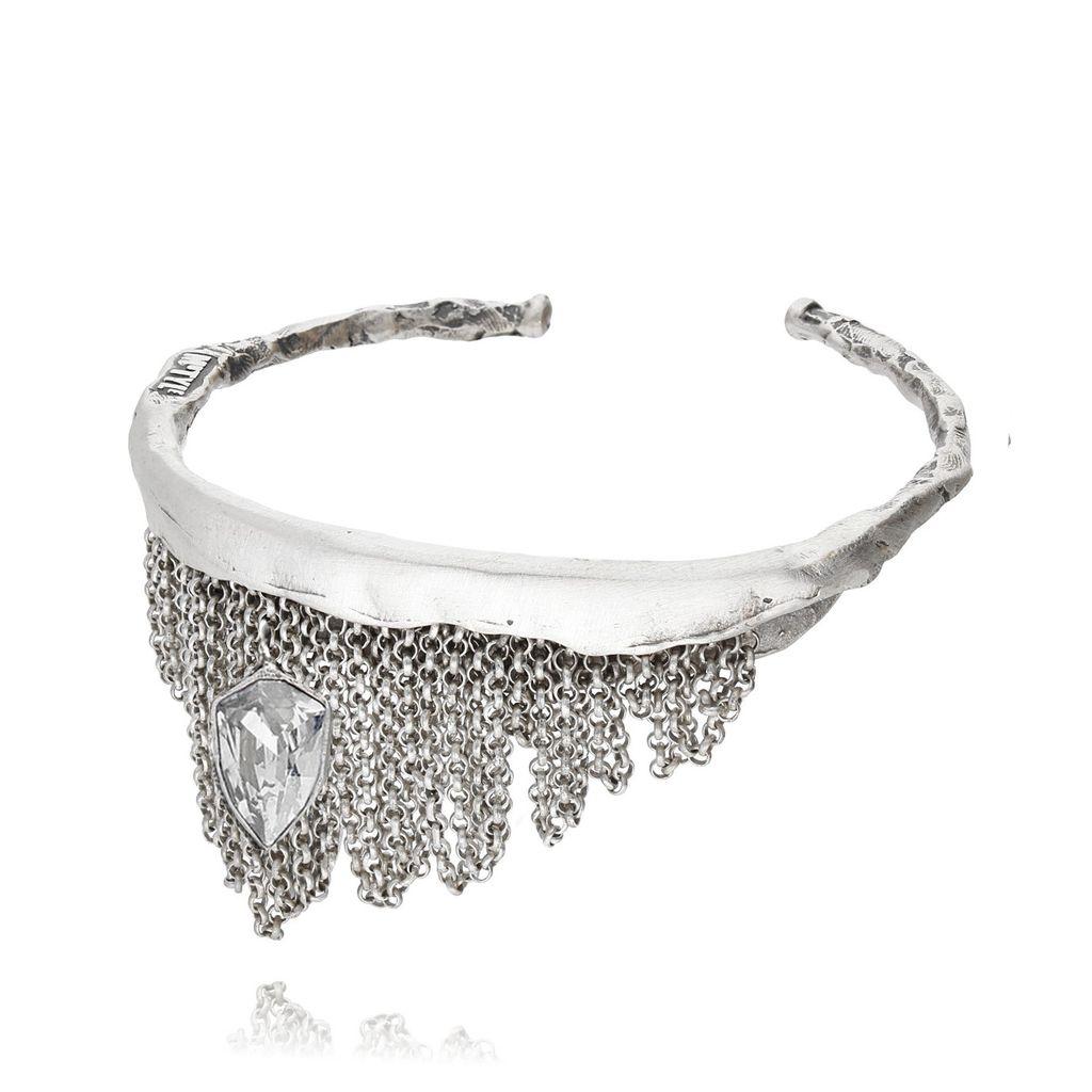 Bransoletka MOTYLE Monarchy srebrna z kryształem BMO0079