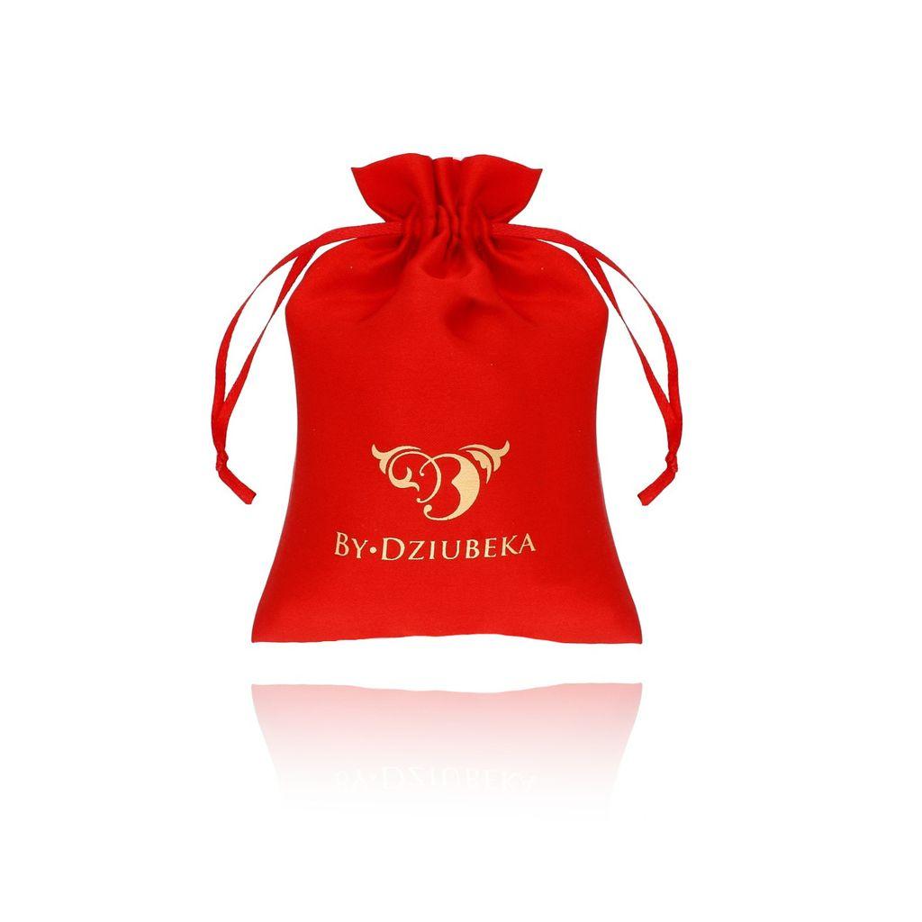 Woreczek satynowy średni czerwony OPA0174