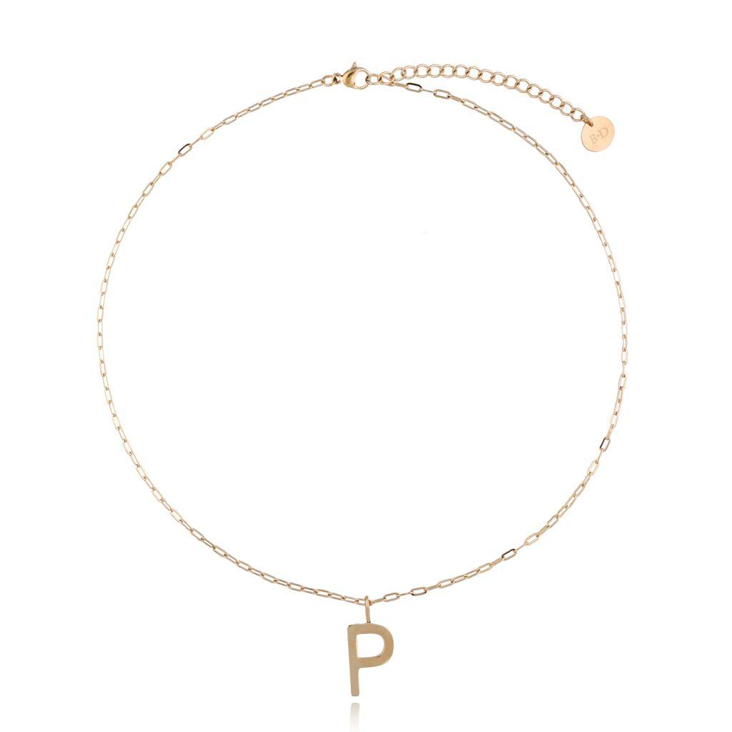Naszyjnik złoty z literką P NAT0213