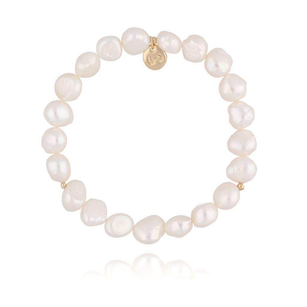 Bransoletka złota z perełkami  BPE0020