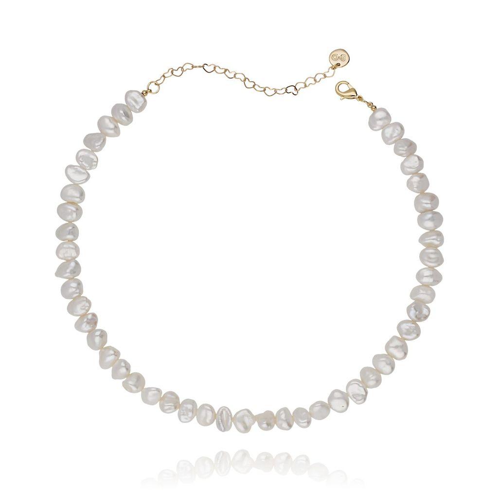 Naszyjnik choker z perłami NPE0010