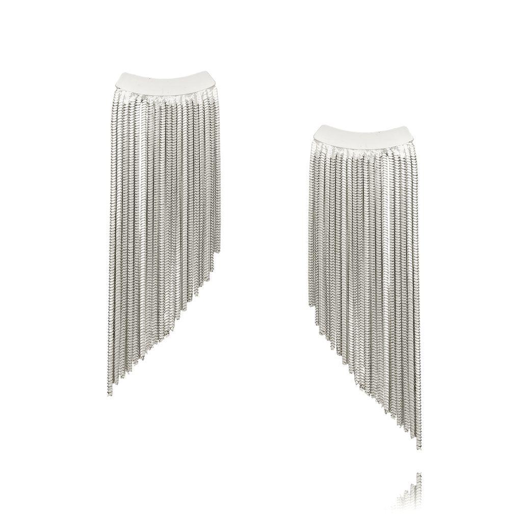 Kolczyki srebrne łańcuszki KRG0552