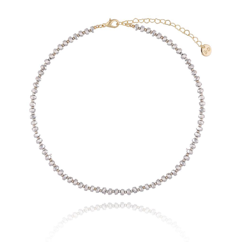 Naszyjnik ze srebrnymi kryształkami NTW0070