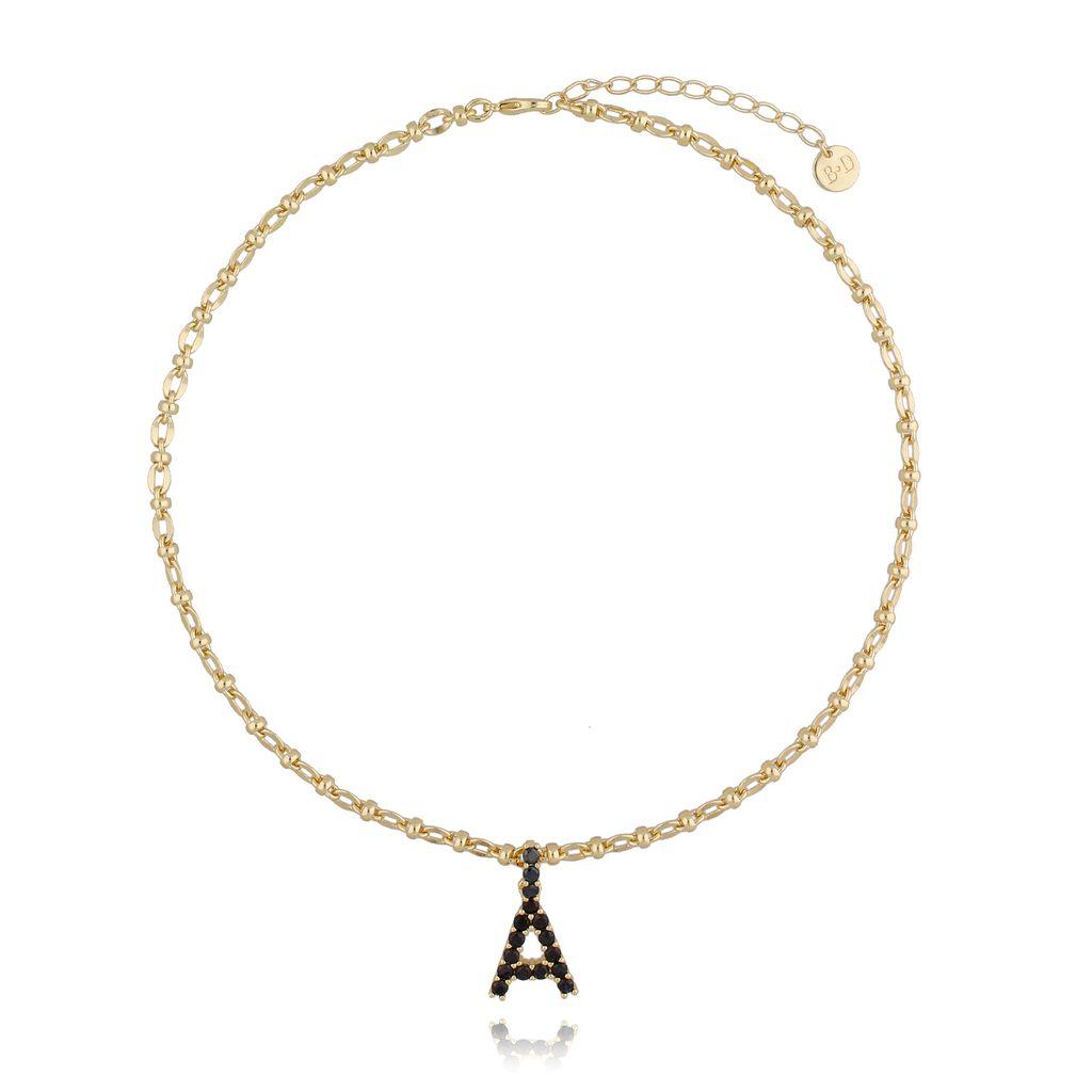 Naszyjnik złoty łańcuch z literą A NRG0196