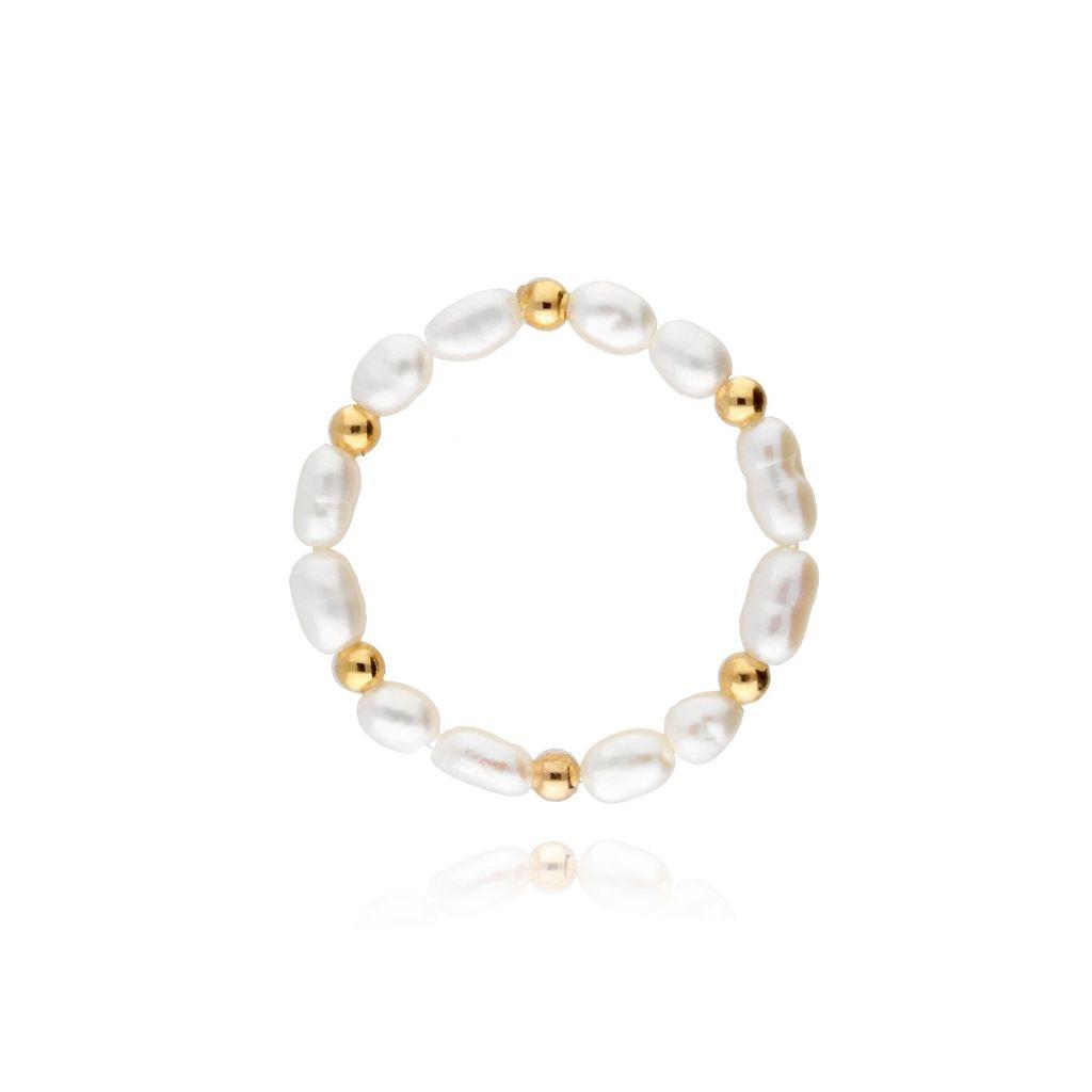 Pierścionek elastyczny z perełek PPE0013