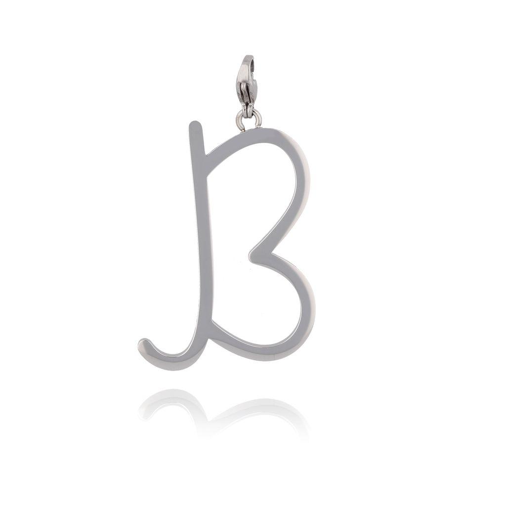 Zawieszka ze stali szlachetnej srebrna literka B Alphabet NAT0034