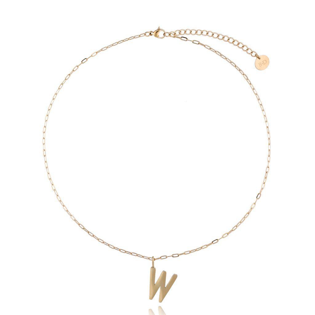 Naszyjnik złoty z literką W NAT0214