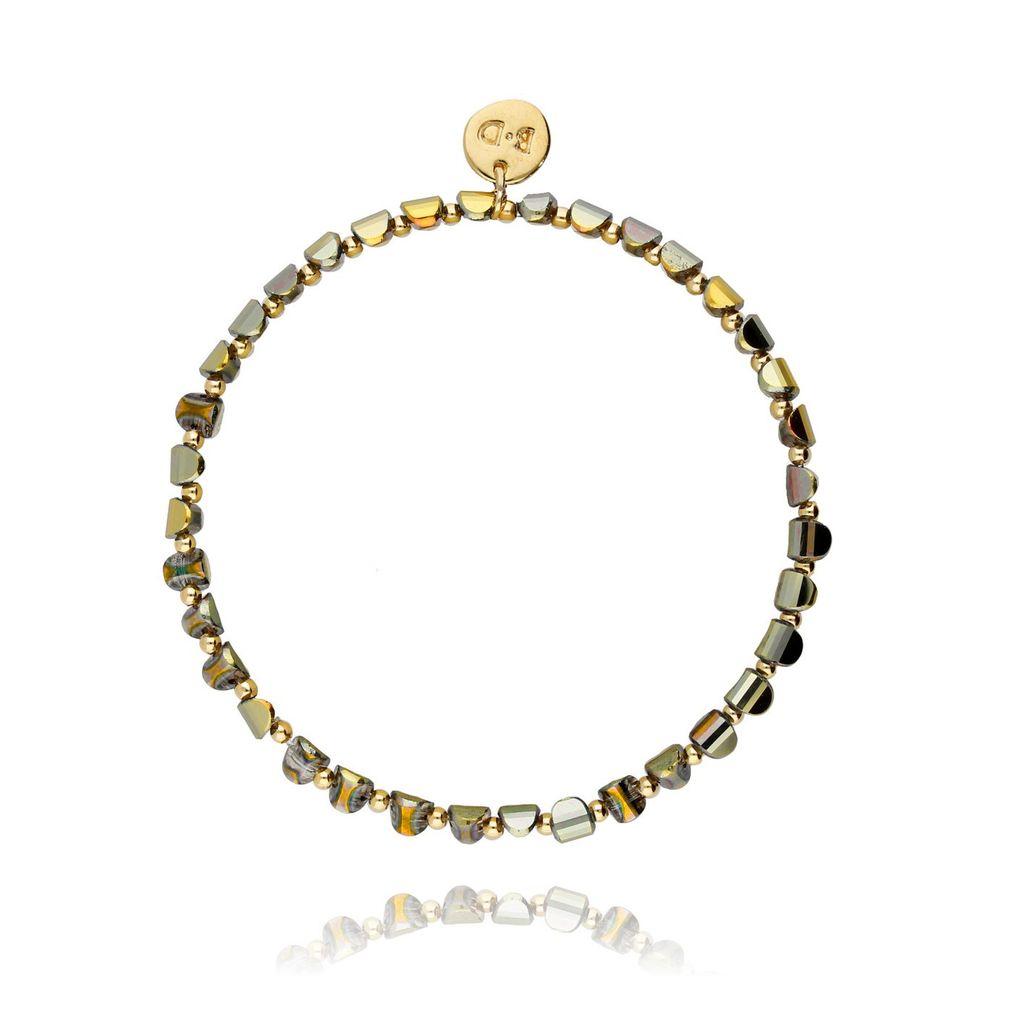 Bransoletka złota z hematytem BTW0110