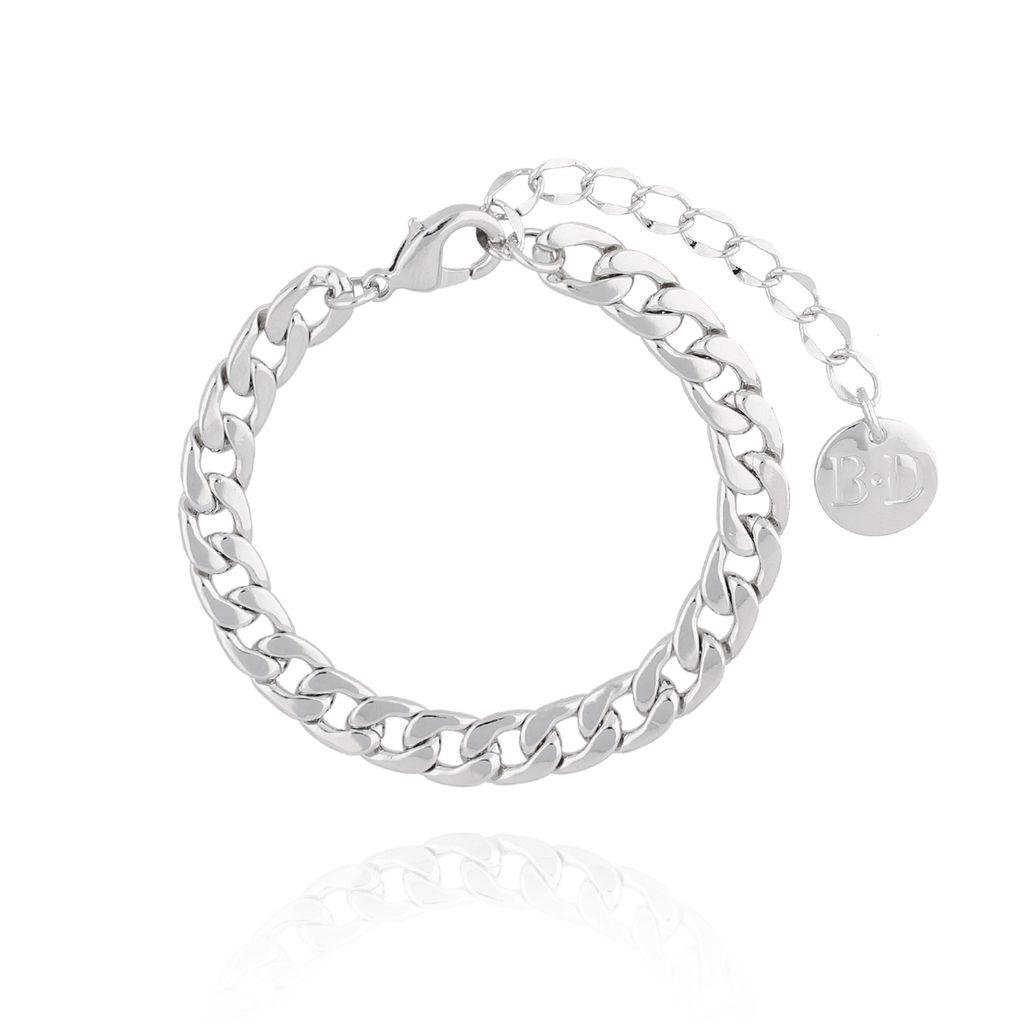 Bransoletka srebrny łańcuch średni BRG0114