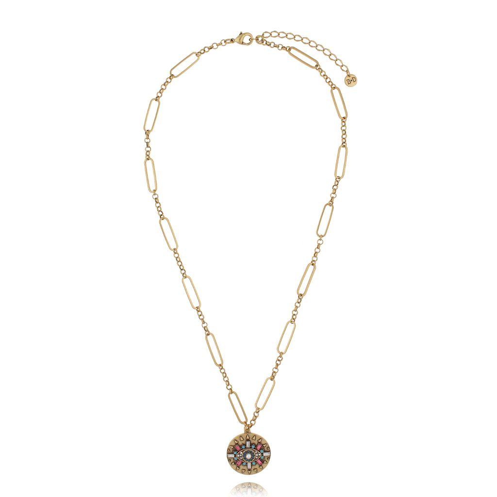 Naszyjnik z wisiorkiem antyczne złoto NRG0316