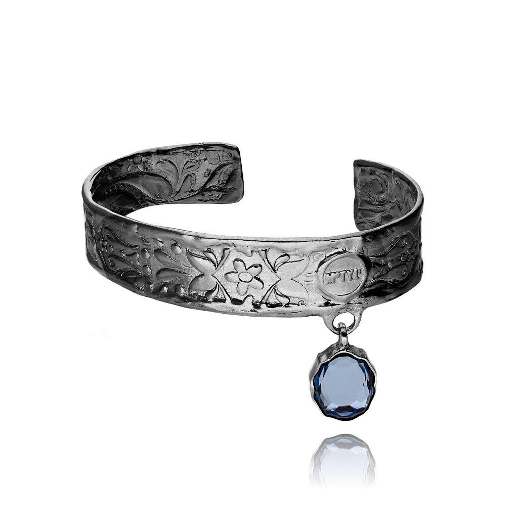 Bransoletka MOTYLE Marokańska Róża z niebieskim kryształem BMO0049