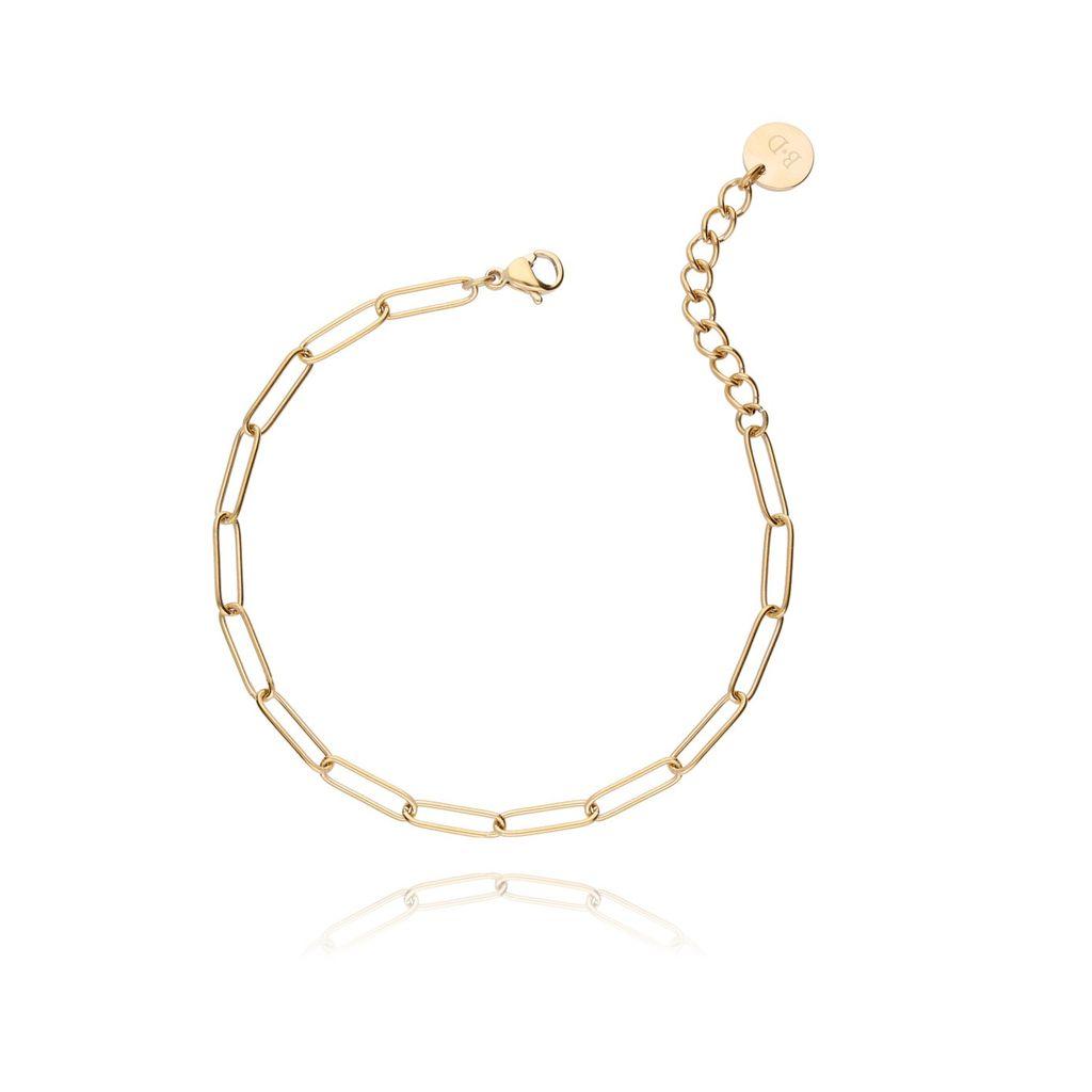 Bransoletka złoty łańcuch ze stali szlachetnej BSA0006