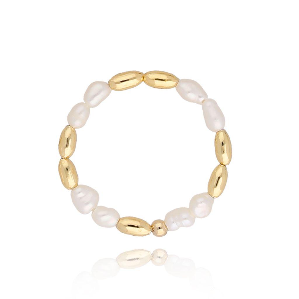 Pierścionek elastyczny z pereł PTW0088