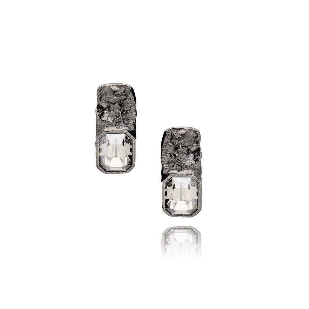 Kolczyki MOTYLE Selene z kryształem KMO0072