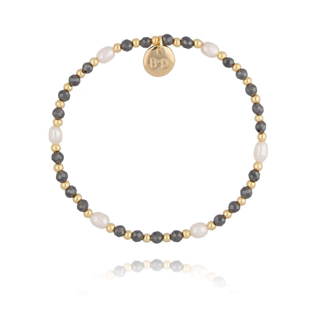 Bransoletka z hematytem i perłami BTW0215