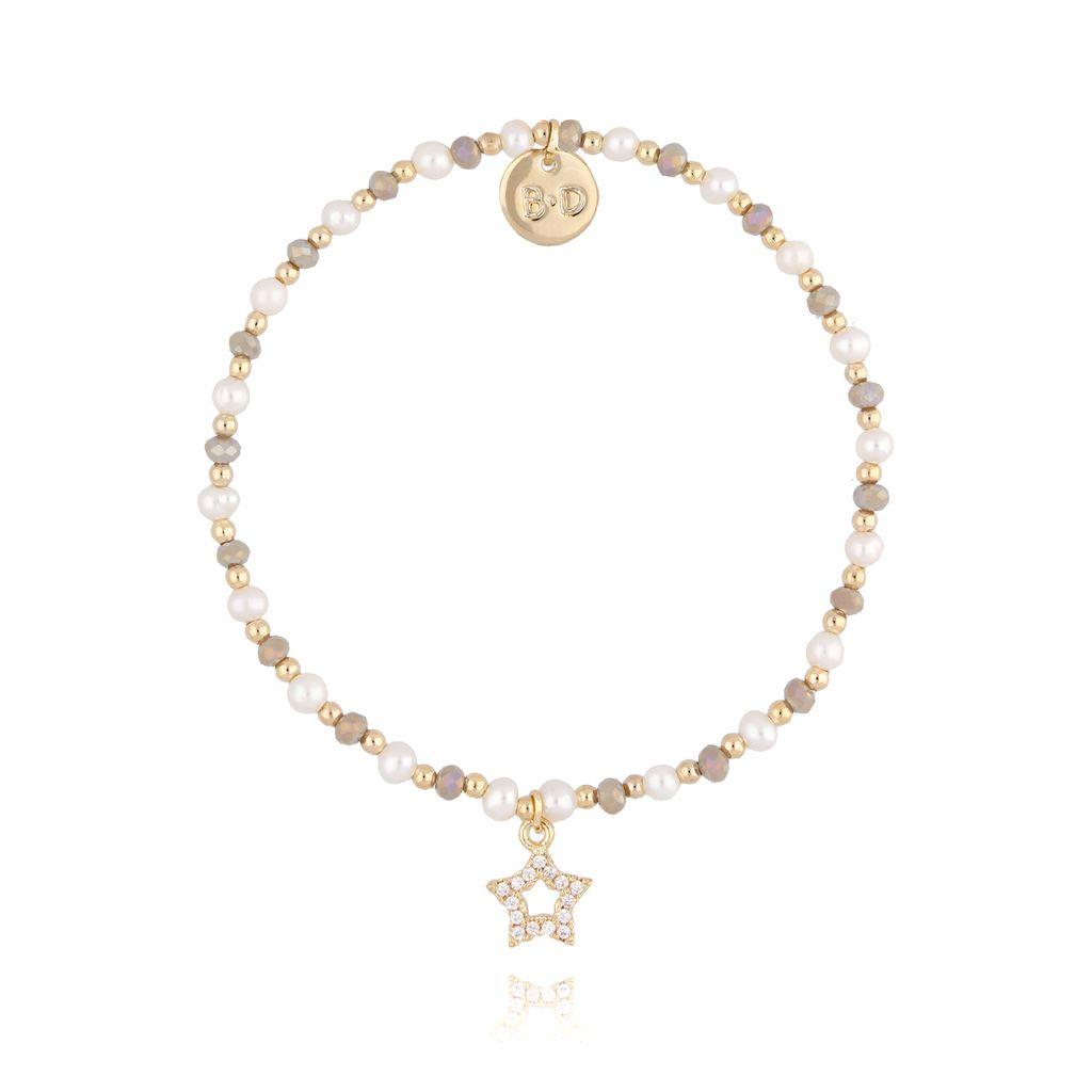 Bransoletka z perłami i kryształkami BTW0219