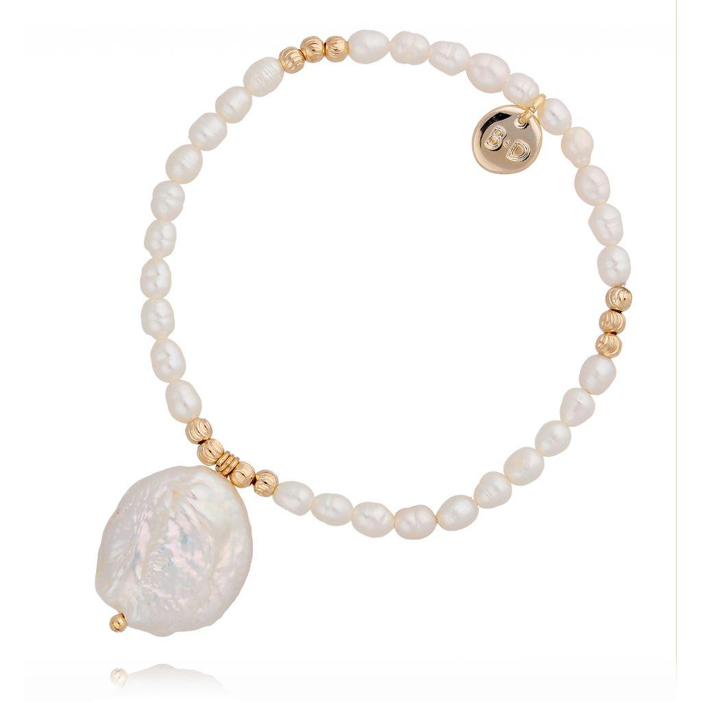 Bransoletka z perłą naturalną BPE0008