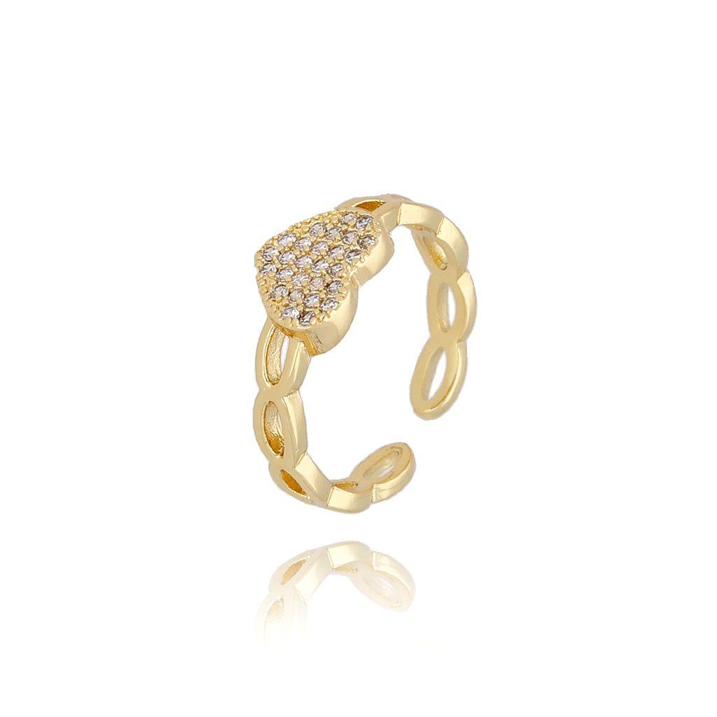 Pierścionek złoty  z serduszkiem PRG0153