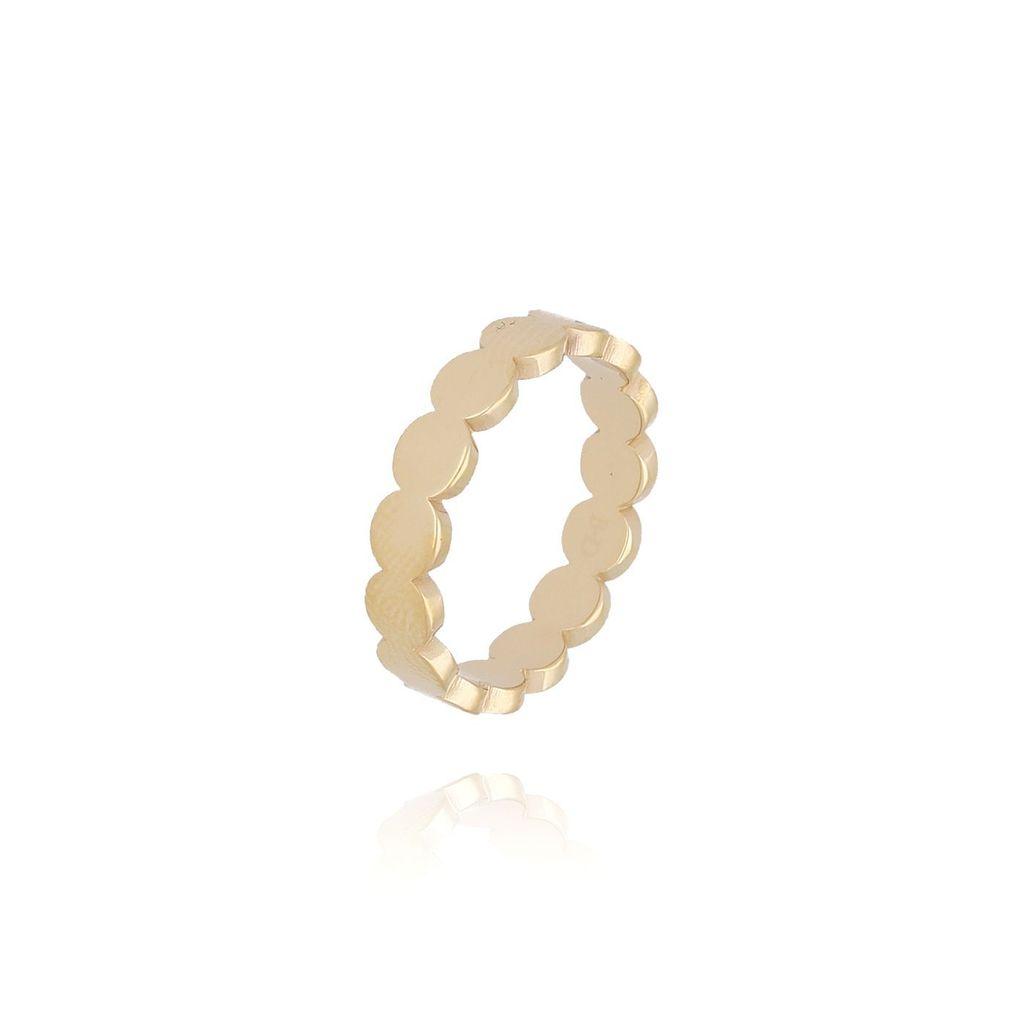 Pierścionek złoty ze stali szlachetnej PSA0098 Rozmiar 18
