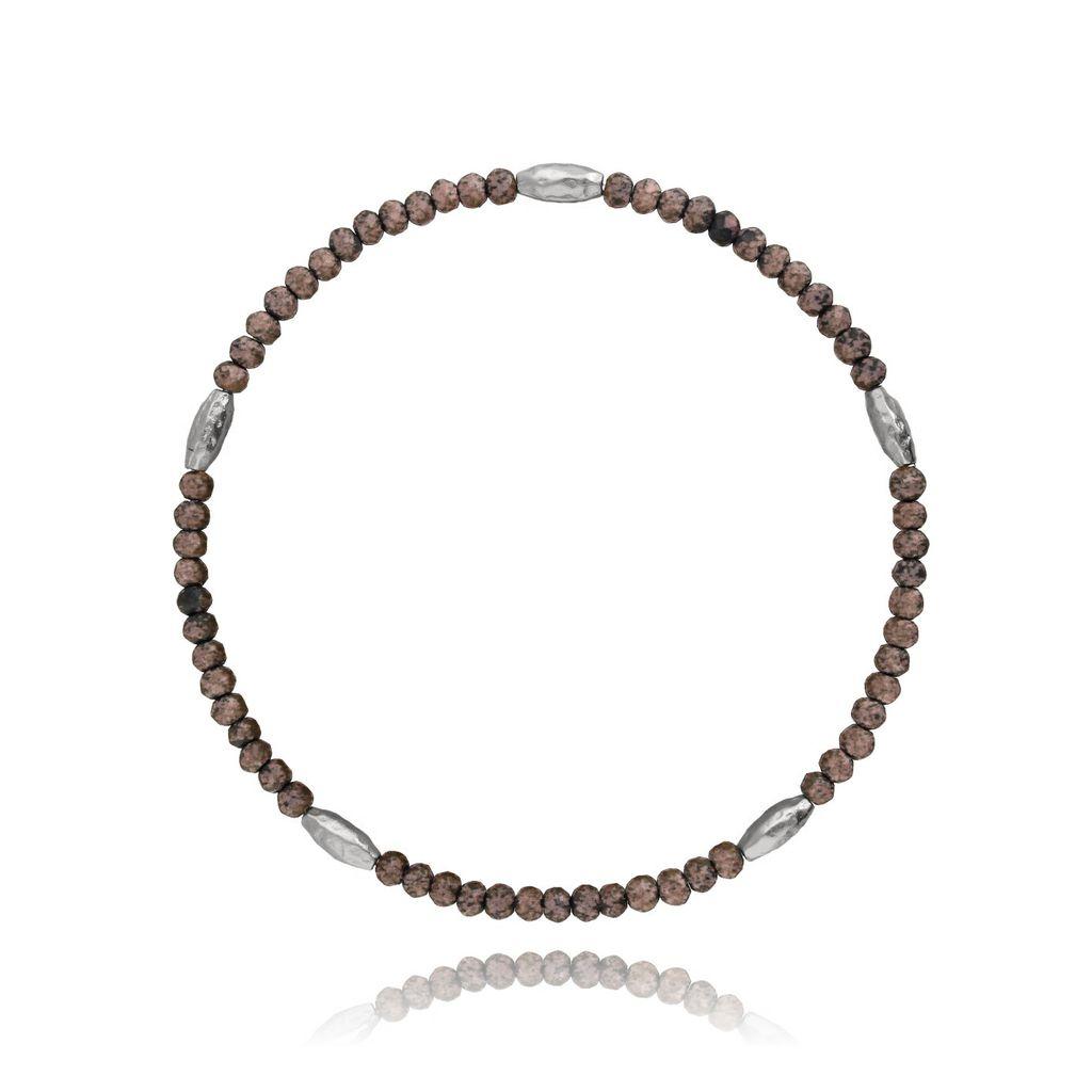 Bransoletka z kryształków - brązowy mat BBA0005