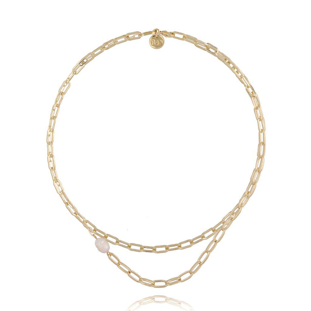 Naszyjnik złoty łańcuch podwójny NSL0019
