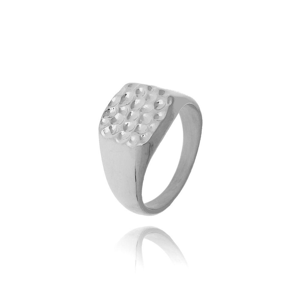 Pierścionek srebrny sygnet ze stali szlachetnej PSA0122 Rozmiar 15