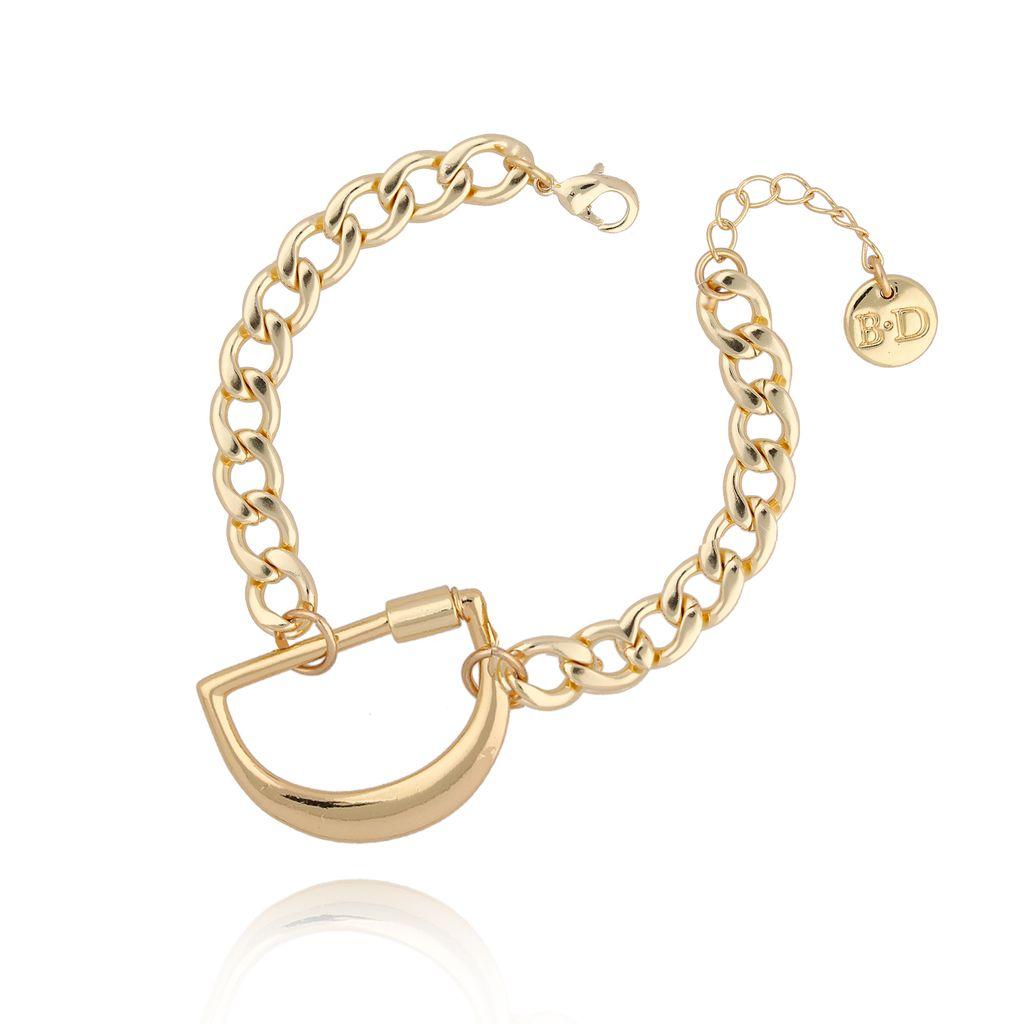 Bransoletka złoty łańcuch z literą D BSL0015
