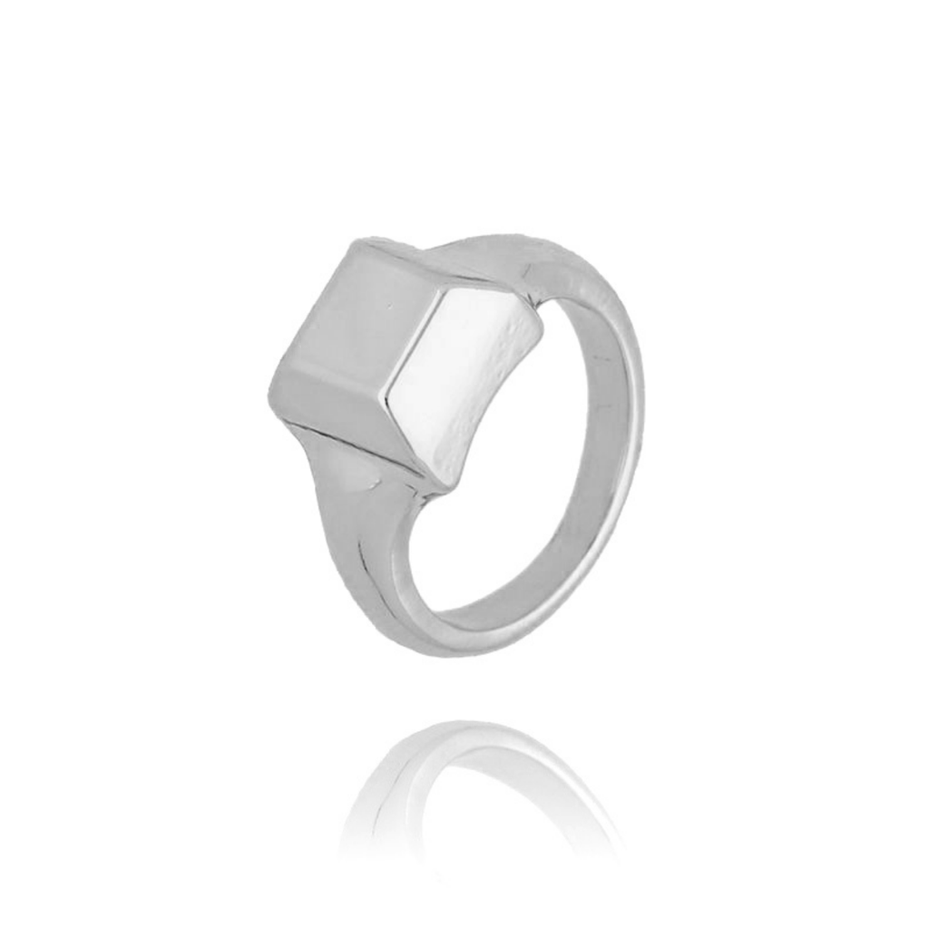 Pierścionek srebrny sygnet PRG0170 rozmiar 11